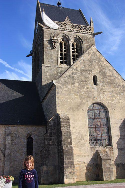 La iglesia de Saint-Mère-Église