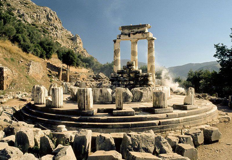 Las ruinas de Delfos