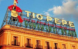 Letrero Tío Pepe en Puerta del Sol