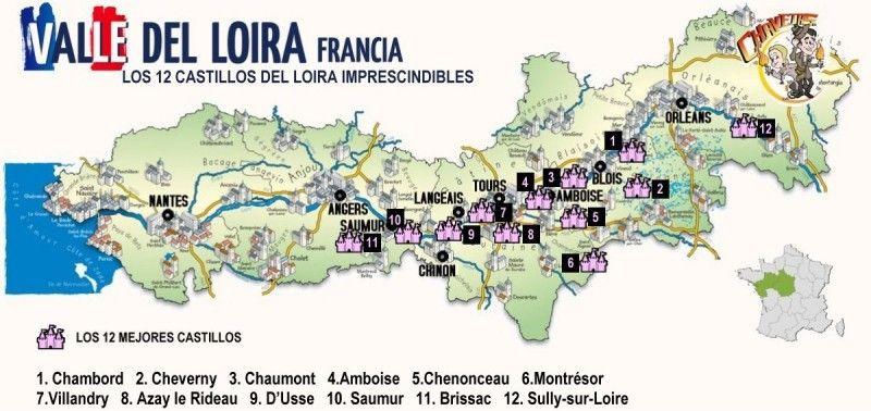 Ruta en coche por los castillos de Loira