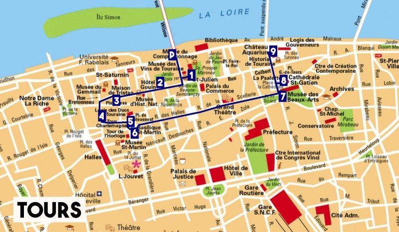 Ruta a pie por Tours