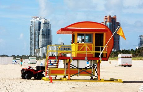 Casita vigilantes de la playa en Miami beach